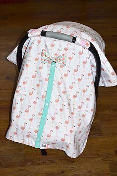 CLEARANCE Flamingo Peekaboo Carseat Canopy