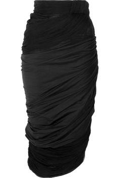 Vionnet - Draped black skirt