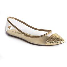 Carmen Steffens: Sapatilha Dourada R$ 129,90