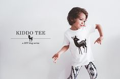 Fawn t-shirt by Oana Befort http://oanabefort.com/2014/05/kiddo-tee-diy-fawn/