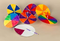 science crafts for kids | ... wheel of color. Spin fast—or slowly! Experiment with color science