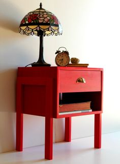 Mid Century Bedside Table/ Custom made/ Handmade/ Retro Design