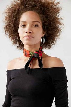 Ecote Silky Mini Square Scarf - Urban Outfitters
