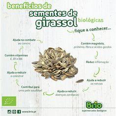 Brio Supermercados Biológicos - sementes de girassol benefícios