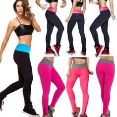 Women's High Waist YOGA Sport Running Pants Fitness Fashion Leggings. Click The Image To Buy It Now!