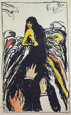 Lust, Edvard Munch, 1895.Hand-colored lithograph