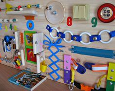 Busy Board , Childrens Activity Toys, Sensory Game , Wooden Toy, Toddler Busy Board