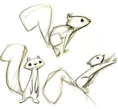 écureuil au crayon