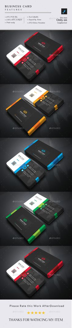 #Business #Card - Business Cards Print Templates Download here: https://graphicriver.net/item/business-card/18797158?ref=alena994