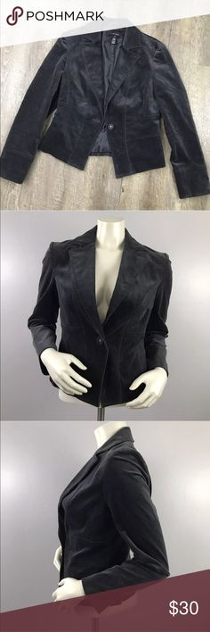 Nine West Gray Corduroy Blazer Sz 4 Size 4 Great career or casual piece! Lined Gray Corduroy  Details in last photo  Gently used  No trades Nine West Jackets & Coats Blazers