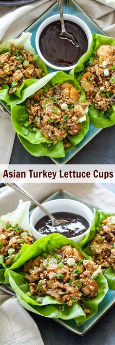 Asian Turkey Lettuce Cups. Save calories and money by making your own delicious Asian Turkey Lettuce Cups at home! A fun and easy dinner or appetizer!