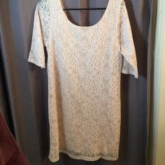 LAST CHANCE ⏰ Francescas Collection Lace Dress Beautiful lace dress. Quarter sleeve. Good condition ||photo number 4 is a different lace design but it is the same fit as my dress. Both are from Francescas Collection  ||| Francesca's Collections Dresses