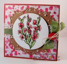 A pink Gladioli for you today using Gladioli from Power Poppy http://powerpoppy.com/products/gladioli