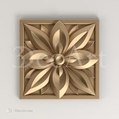 Rz_010 | The carved rosette 3D