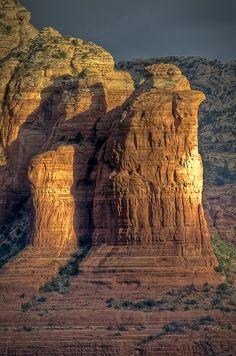 Coffee Pot Rock in Sedona, Arizona.