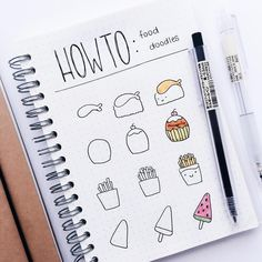 easy drawings step by step cute food / drawings easy step by step food ; easy drawings step by step cute food ; easy drawings for beginners step by step food ; easy drawings step by step for kids food ; cute and easy drawings step by step food April Bullet Journal, Bullet Journal Notes, Bullet Journal Aesthetic, Bullet Journal Spread, Bullet Journal Ideas Pages, Bullet Journal Inspiration, Bullet Journal Decoration, Doodle Art For Beginners, Easy Doodle Art
