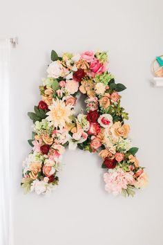 Custom Floral Letter - Boho nursery
