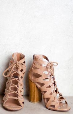 Helena Lace-Up Heels- $42.50