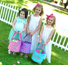 Personalized Easter Baskets by ThreadsOnSignal on Etsy, $22.95