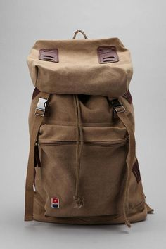 Urban Outfitters Brown Allson Canvas Rucksack