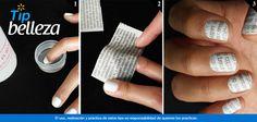 Manicure original con papel periódico.  ¿Te imaginas llevar en tus uñas las letras impresas de un periódico? Es posible, este acabado de manicure es una de las técnicas más sencillas de realizar. En Walmart SIEMPRE encuentras TODO y pagas menos.