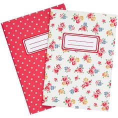 Cath Kidston Freston Rose Notebook, Pack of 2, Multi (25 BRL) ❤ liked on Polyvore featuring home, home decor, stationery and school