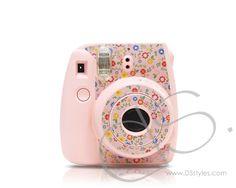 Garden Camera Sticker for Fujifilm Instax mini 8 - Pink Poloroid Camera, Fujifilm Polaroid, Instax Camera, Fujifilm Instax Mini 8, Instax Mini 8 Pink, Fuji Instax Mini 8, Cute Camera, Camera Art, Camera Accessories