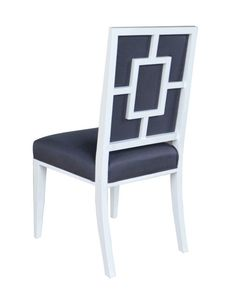 Patterned Back White Dining Chair – Allissias Attic & Vintage French Style