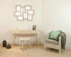 Seville White Wash Tub Chair