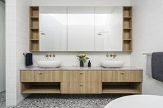 Hampton Street, Brighton / Projects / Polytec Modern Bathroom Design, Houzz, Double Vanity, Brighton, The Hamptons, Contemporary, Interior Design, Street, Melbourne