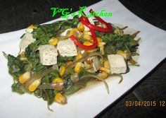 Spinach Corn and Tofu Sautà (TUMIS BAYAM JAGUNG TAHU) Recipe -  How are you today? How about making Spinach Corn and Tofu Sautà (TUMIS BAYAM JAGUNG TAHU)?