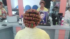Sleep In Hair Rollers, Hair Curlers Rollers, Updo Styles, Hair Styles, Sandy Hair, Wet Set, Hair Setting, Roller Set, Thats The Way