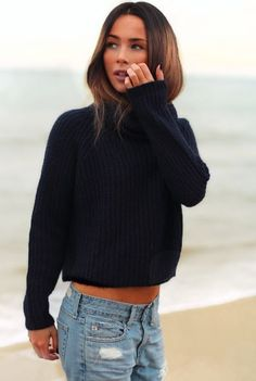 casual outfit #simplicity #navyblue