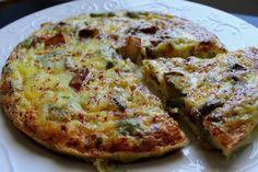 Potato and Mushroom Spicy Frittata Greek Recipes, My Recipes, Bread Oven, Frittata Recipes, Deli, Vegetable Pizza, Quiche, Make It Simple, Spicy