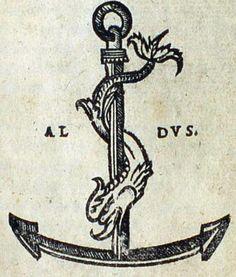 Marca tipografica di Aldo Manuzio il Vecchio.Festina lente