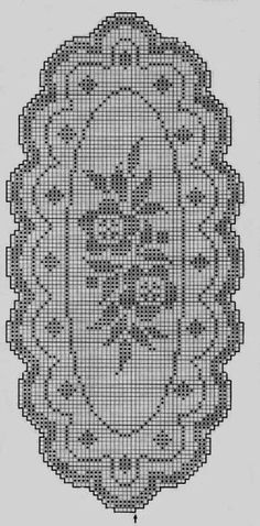Kira scheme crochet: Scheme crochet no. Crochet Patterns Filet, Crochet Table Runner Pattern, Crochet Flower Patterns, Crochet Motif, Crochet Designs, Crochet Doilies, Cross Stitch Patterns, Crochet Coaster, Fillet Crochet
