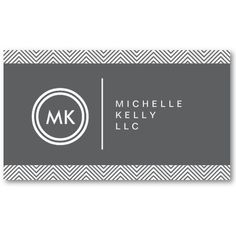 INITIALS LOGO with CHEVRON PATTERN 1 Business Card