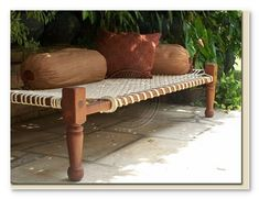 Indian day bed. Charpoy