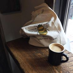 """thingsloversdo: """"buzz buzz sip sip"""" (at Tamp Coffee Co. Dorian Gray Book, Shops, Save The Bees, Intp, Spirit Animal, The Help, Matcha Milk, Honey, Accessories"""