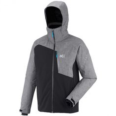 077014fe86f5e Millet Mens Cypress Mountain Jacket Noir  Heather Grey