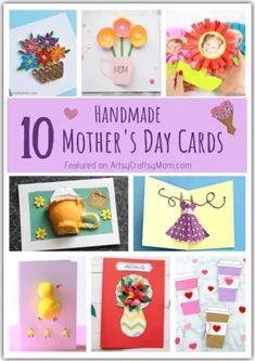 Nothing can beat these adorable Handmade Mother's Day Cards to bring a big smile on Mom's face! Easy ideas for kids of all ages to try and make! Quick Crafts, Vbs Crafts, Craft Stick Crafts, Crafts To Make, Parents Day Cards, Little Tykes, Stick Photo, Sweet Messages, Mothers Day Crafts