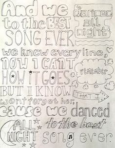 direction quotes Best Song Ever - One Direction One Direction Fan Art, One Direction Drawings, Lyric Drawings, One Direction Lyrics, Song Lyrics Art, Lyric Art, Song Quotes, Best Song Ever, Best Songs