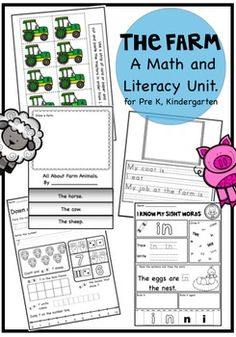 The Farm - Farm Concepts including a Math and Literacy Focus Writing Activities, Teaching Resources, Farm Unit, Ordering Numbers, Skip Counting, Math Numbers, Sight Words, Maths, Literacy