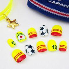 Brasil 2014 Fifa World Cup nails. Japan nail art.