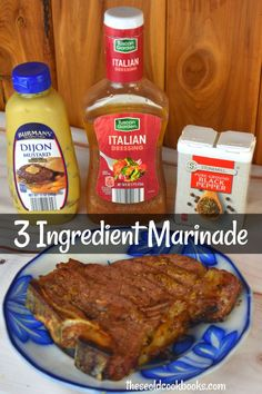 have the easiest 3 Ingredient Steak Marinade for you, and we are betting you already have the ingredients on hand – ground black pepper, bottled Italian dressing, and Dijon mustard. Your steak will be tender and flavorful every single time. Spareribs Marinade, Steak Marinade For Grilling, Steak Marinade Recipes, Marinated Steak, Grilling Recipes, Beef Recipes, Chicken Recipes, Italian Dressing Chicken Marinade, Venison Steak