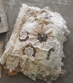 Shabby Royale Lovely Lace Book by Wilma  Gorgeous details!