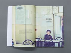 54 Fantastic and Modern Magazine Design Layouts to Inspire you! love this layout on the right page. a very central peice of text which compliments the photo. you can clearly see this photo is using the rule of thirds, door frame on the right, chairs horizontally along the bottom and centeral skirting line along the wall. the text is positioned with perfection.