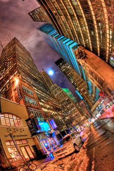 A City's Patience..love the use of sidewalk pov with a fisheye lens. super nice colors too.