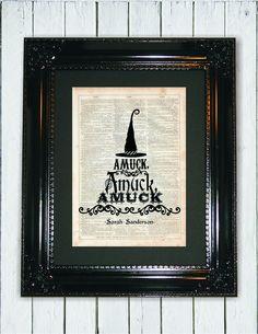 AMUCK Hocus Pocus Quote Dictionary Art Print by MySilhouetteShoppe