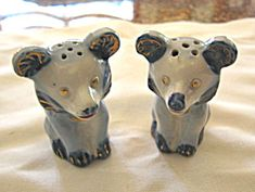For sale online at More Than McCoy on TIAS; vintage Japan shakers with cork stoppers!